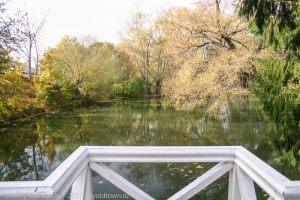 Болдинская осень. На горбатом мостике. Вид на верхний пруд