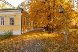 Болдинская осень. Господский дом Пушкиных. Красивые осенние фото