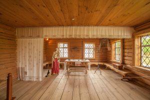 Болдино. Восстановленные дома священнослужителей. Музей сказок Пушкина